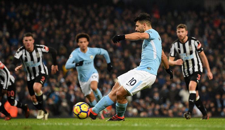 Cetak Tiga Gol ke Gawang Newcastle, Aguero Merendah