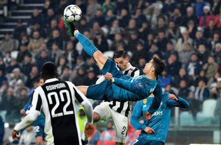 Cristiano Ronaldo tak percaya bisa mencetak gol salto bagi Madrid ke gawang Juventus di Liga Champions.