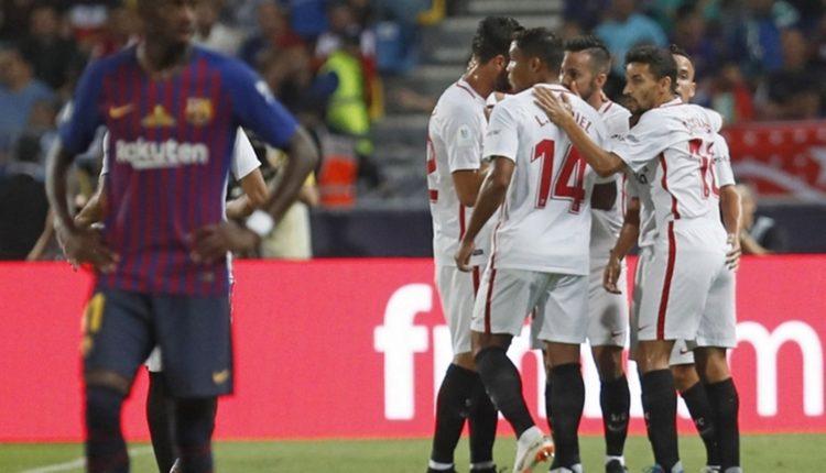 sevilla vs barcelona di La Liga akan bisa disaksikan di melalui Facebook. (@LaLigaEN)