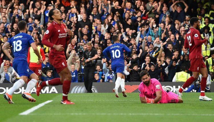 (GALERI) Gol Eden Hazard-Chelsea vs Liverpoo