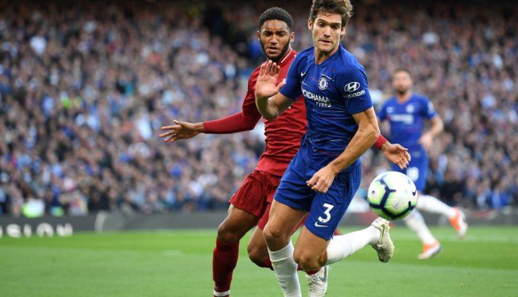 (GALERI )Marcos Alonso-Joe Gomez-Chelsea vs Liverpoo