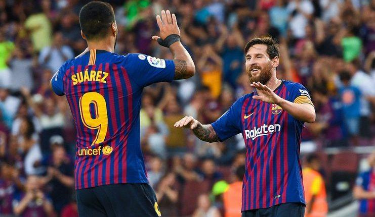 Lionel Messi - Luis Suarez - Barcelona - La Liga - Divisi Primera