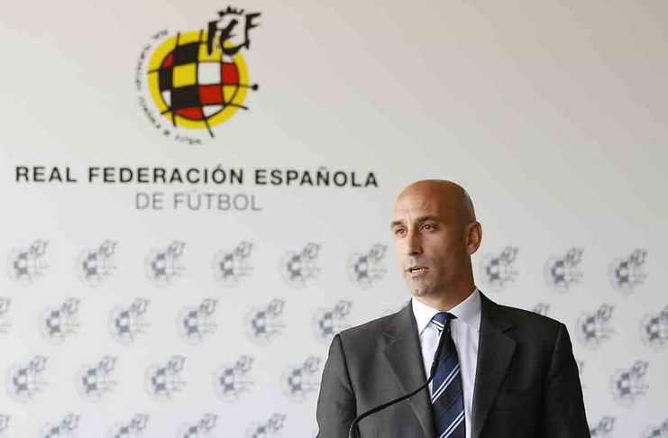 Luis Rubiales mengecam Javier Tebas soal rencana LaLiga gelar laga di AS. (football5star.com / sportyou.es)