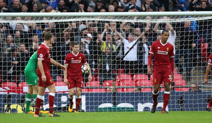Liverpool kalah 1-4 dari Tottenham dalam laga terakhir di Stadion Wembley. (football5star.com / theanfieldwrap.com)