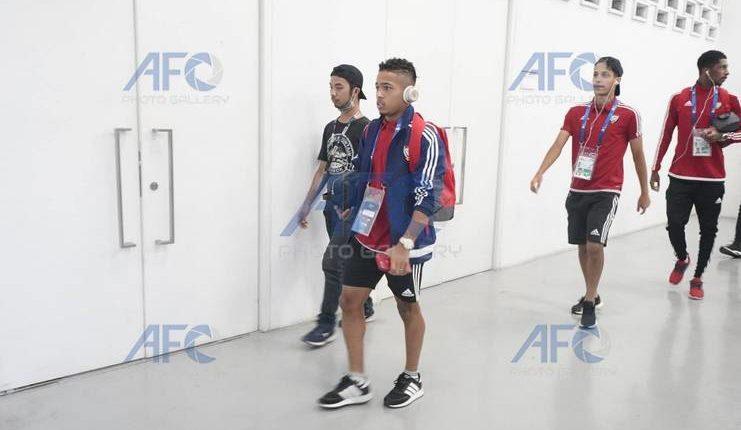 para pemain timnas u-19 uefa menuju ruang ganti-afc