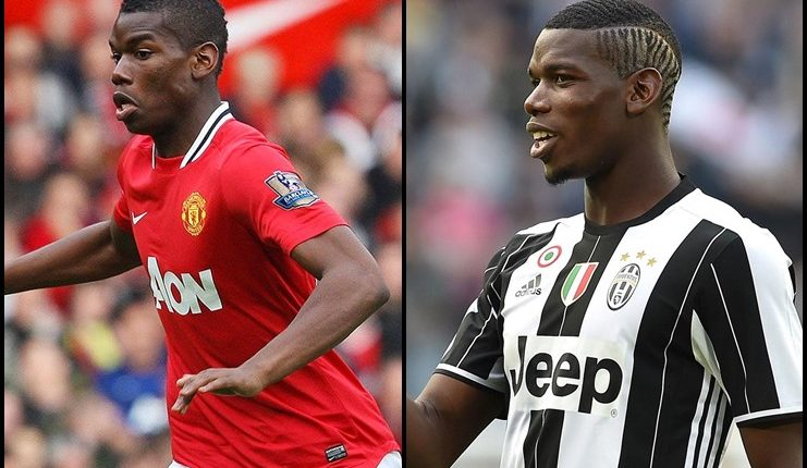 paul pogba-manchester united vs juventus