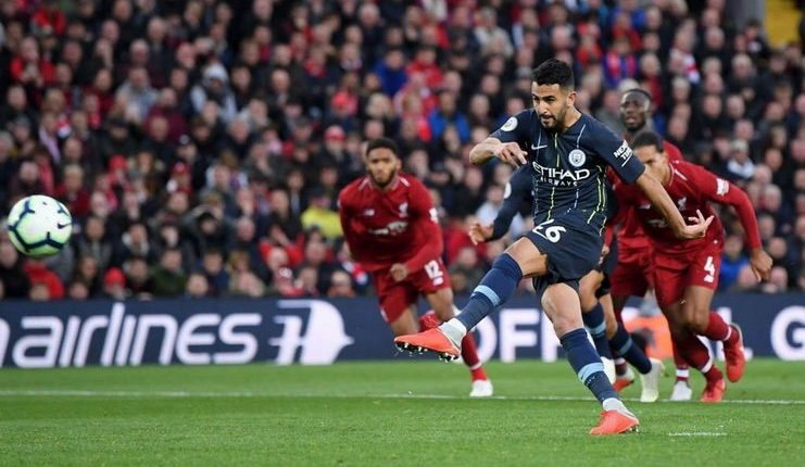 penalti gagal riyad mahrez-liverpool vs manchester city