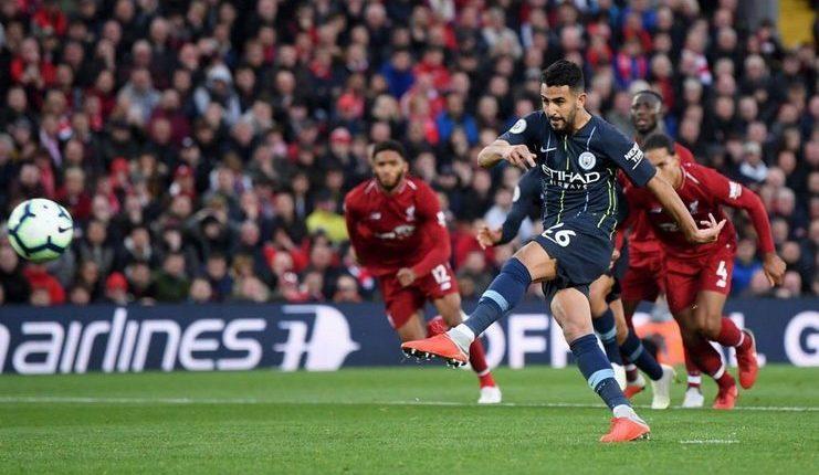 penalti gagal riyad mahrez-liverpool vs manchester city