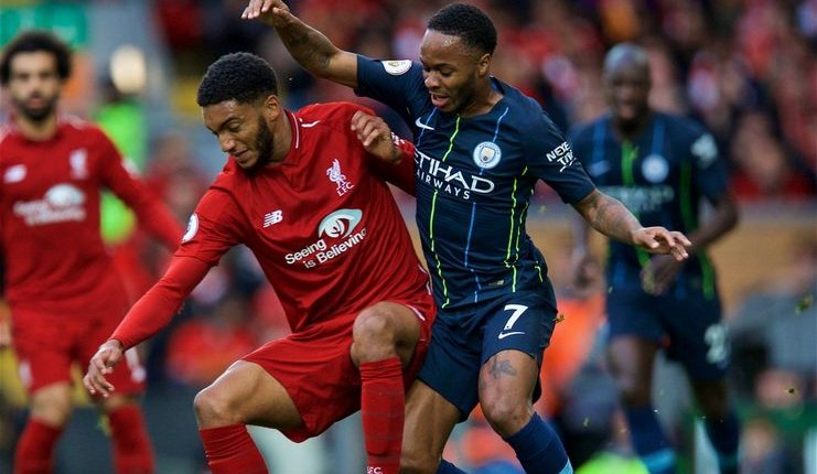 raheem sterling bayangi joe gomez-liverpool vs man city