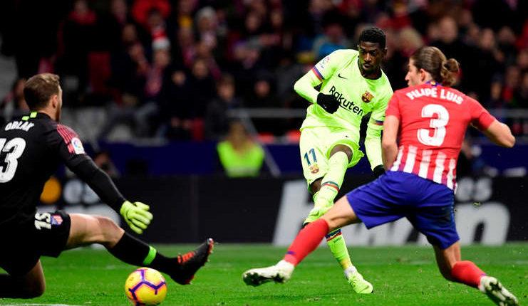 Ousmane Dembele Atletico Madrid vs Barcelona_Squawka