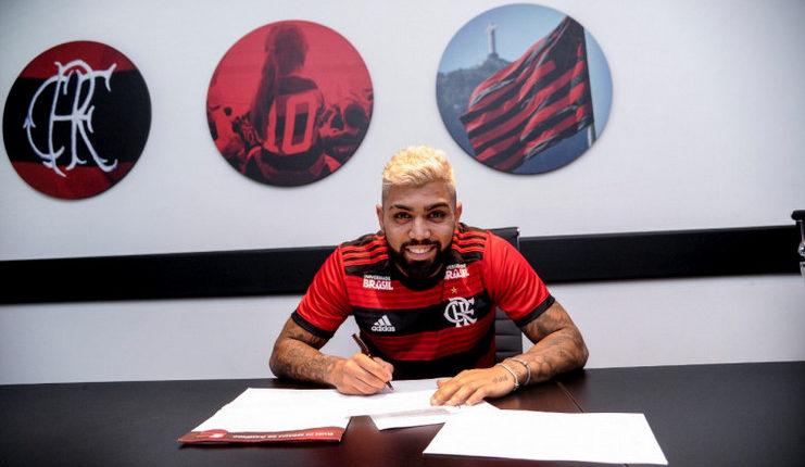 Gabigol menandatangani kontrak sebagai pemain pinjaman Flamengo dari Inter Milan.