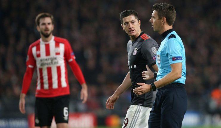 Bayern Munich menang 2-1 di kandang PSV Eindhoven saat diwasiti Gianluca Rocchi.