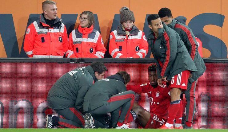Kingsley Coman membuat Bayern kemungkinan pincang saat melawat ke kandang Liverpool.