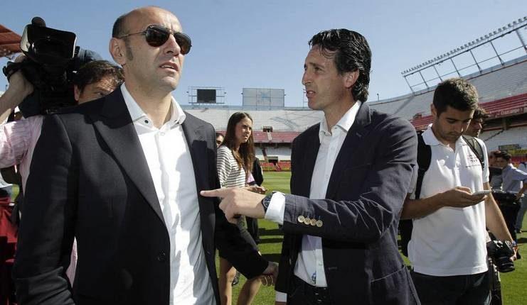 Monchi pernah bekerja sama dengan Unai Emery semasa di Sevilla.