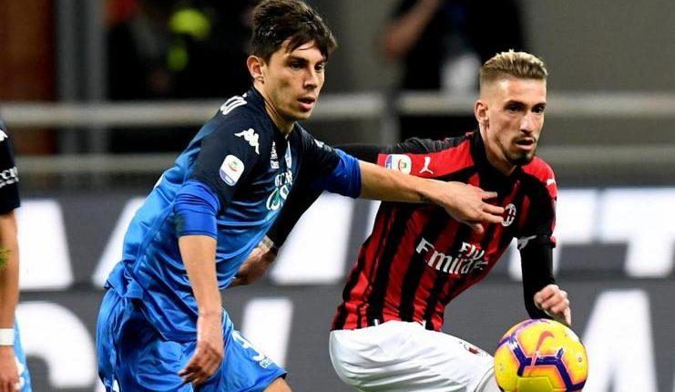 Peragaan tiki-taka oleh Milan pada babak pertama membuat Gennaro Gattuso kesal.