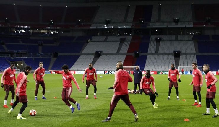 barcelona training lyon