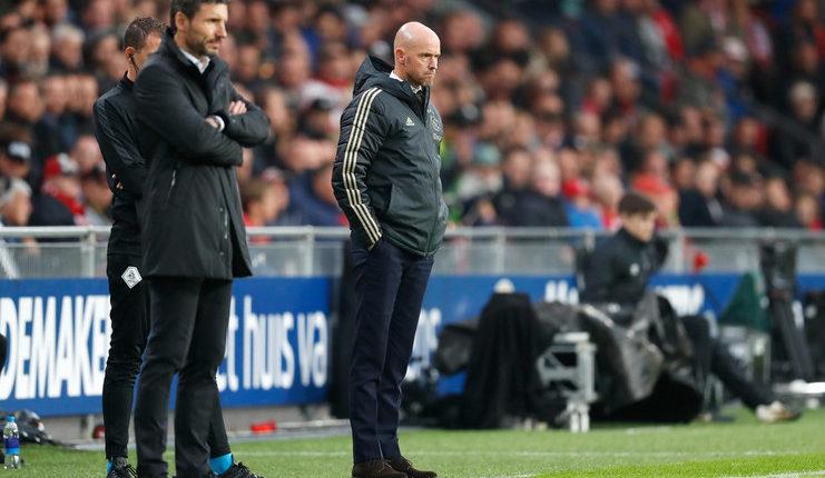 Erik ten Hag akan beradu taktik dengan Mark van Bommel dalam laga Ajax Amsterdam vs PSV Eindhoven.