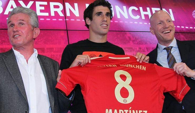 Javi Martinez didatangkan Bayern Munich ke Bundesliga 1 dengan dana 40 juta euro.