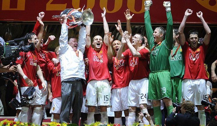 Manchester United juara Liga Champions 2007-08 ketika empat wakil Inggris meramaikan perempat final.