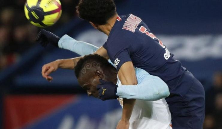 Mario Balotelli gagal mencetak gol dalam laga PSG vs Marseille di Parc des Prince.