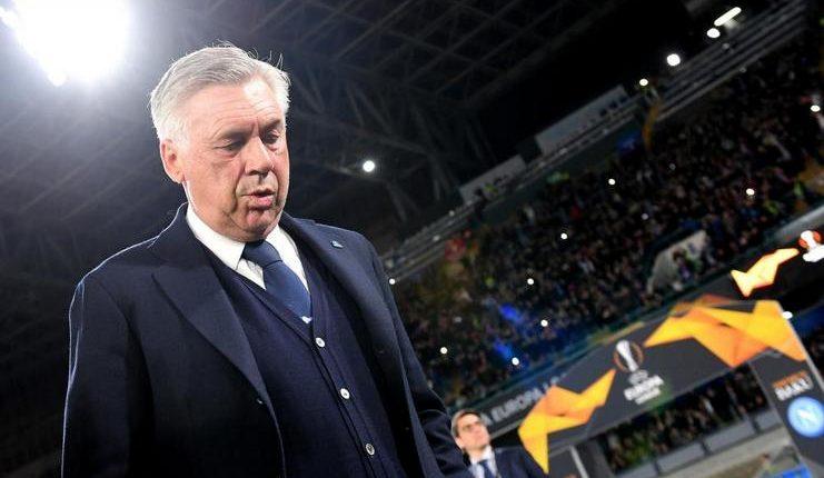 """Carlo Ancelotti menilai pertandingan Napoli v Arsenal di leg perempat final Liga Europa hanya berlangsung 30 menit. """"Class ="""" wp-image-208329"""