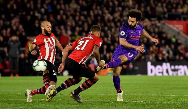 Mohamed Salah mencetak gol ke-50 bagi Liverpool di Premier League saat melawan Southampton.