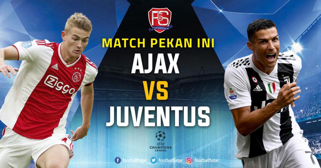 Prediksi Liga Champions Ajax Amsterdam vs Juventus