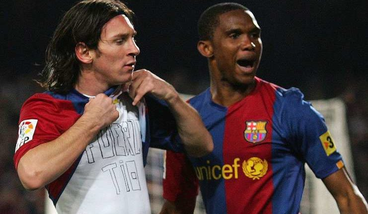 Samuel Eto'o - Lionel Messi - Barcelona - Football5star