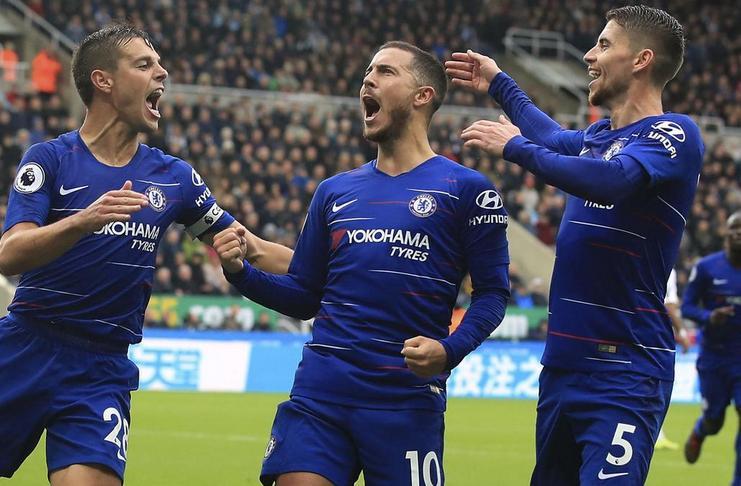 Trio Chelsea Jadi Pemain Paling Kreatif di Liga Inggris 2018-19 - Azpilicueta Eden hazard jorginho - AP
