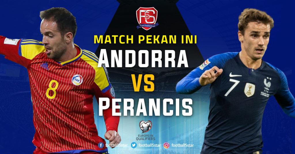 Prediksi Kualifikasi Piala Eropa 2020 Andorra vs Prancis