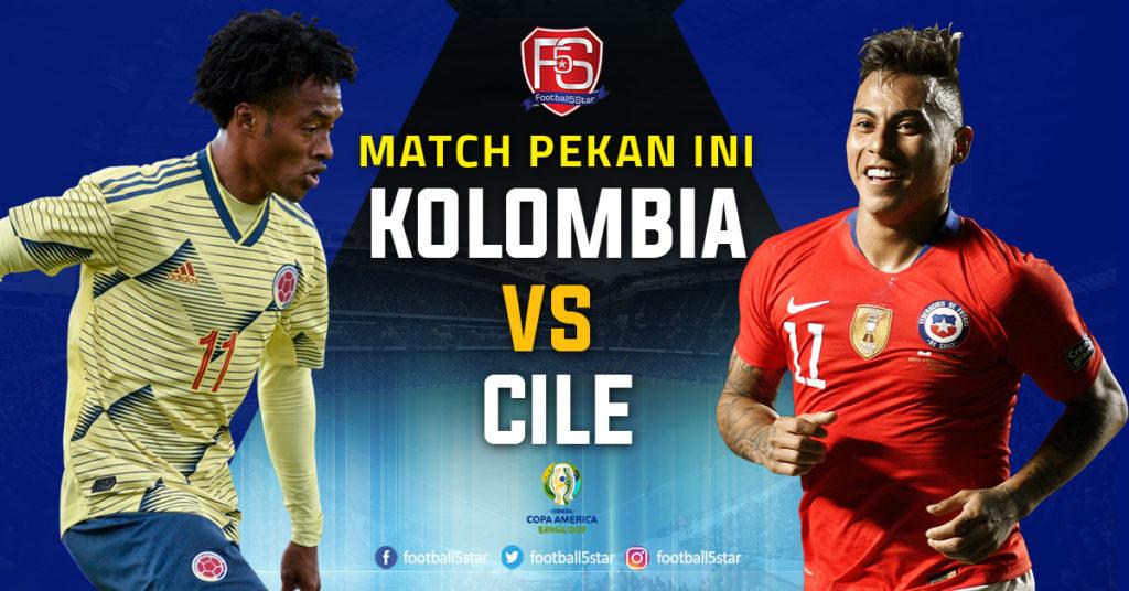 Copa America : Kolombia vs Cile