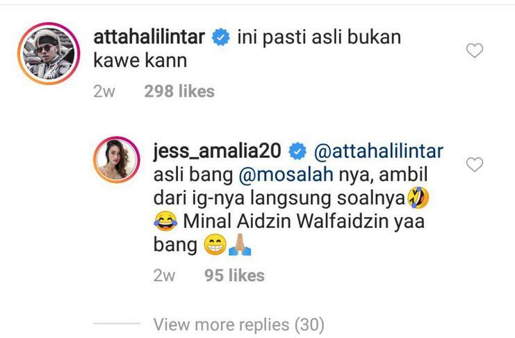 Jak Angel Cantik Jess Amalia Foto Hot Bareng Mohamed Salah, Atta Halilintar Bereaksi - IG Jess Amalia