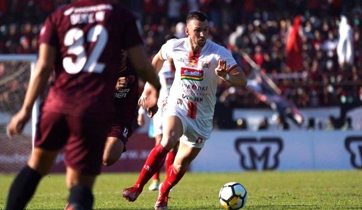 Marko Simic gagal mencetak gol saat menghadapi PSM Makassar pada final Piala Indonesia 2018.