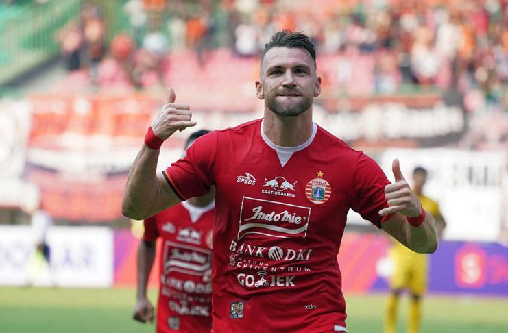 Marko Simic terus mencetak gol bersama Persija Jakarta pada ajang Liga 1 2019 dan berpeluang menyamai rekor Sylvano Comvalius.