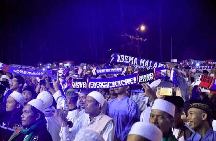 Ribuan orang berencana untuk memperingati HUT Arema ke-32