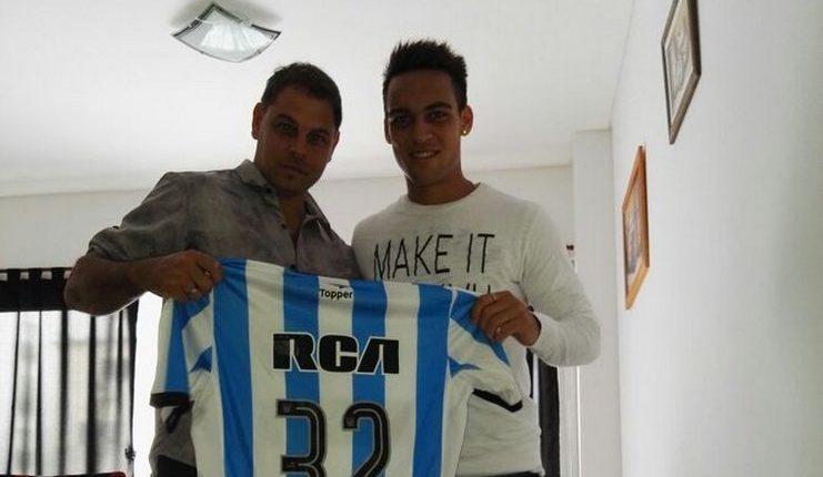 "Lautaro Martinez bersama Alberto Yaque yang merekrutnya ke Racing Club. ""Class ="" wp-image-246456"