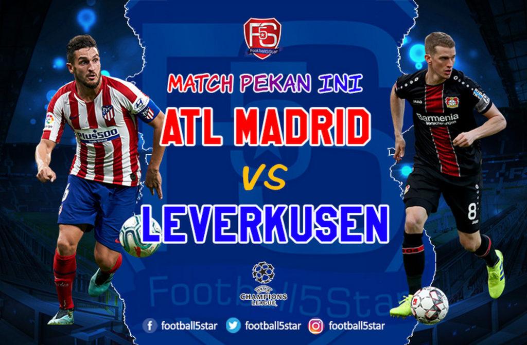 Prediksi Liga Champions Atletico Madrid vs Bayer Leverkusen