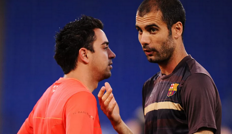 Xavi - Guardiola - Barcelona - Football5star
