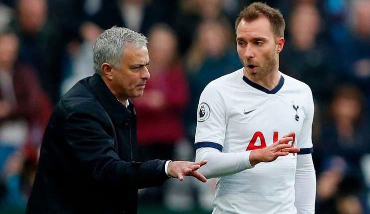 """Christian Eriksen memuji sikap Jose Mourinho terhadapnya yang bersikeras pindah dari Tottenham Hotspur. """"Class ="""" wp-image-284538"""