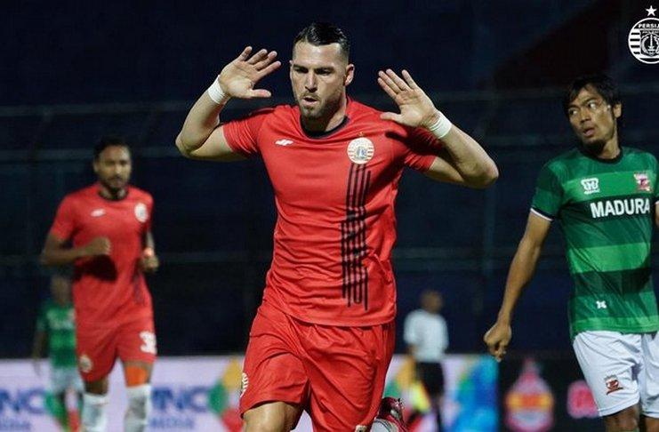 Kini Marko Simic Genap Cetak 80 Gol untuk Persija